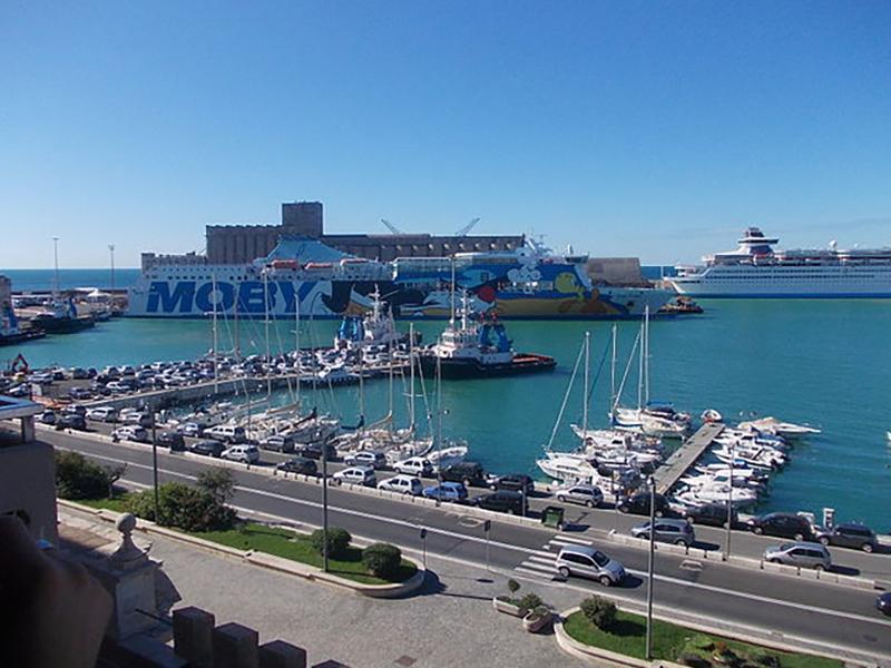View of Civitavecchia Port -