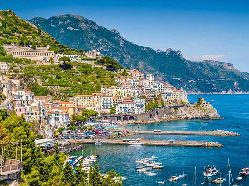 Amazing panoramic view of Amalfi, photographed during our Sorrento your