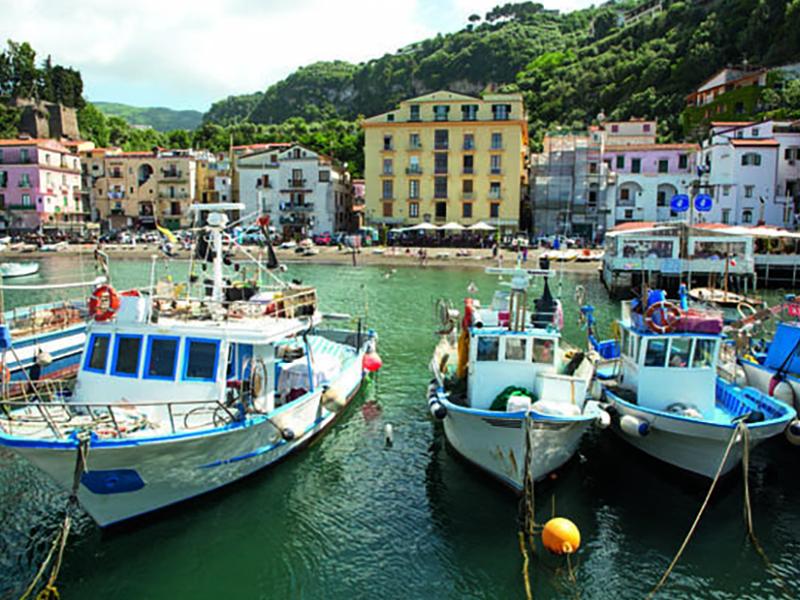 Pretty boats under italian sun near Sorrento