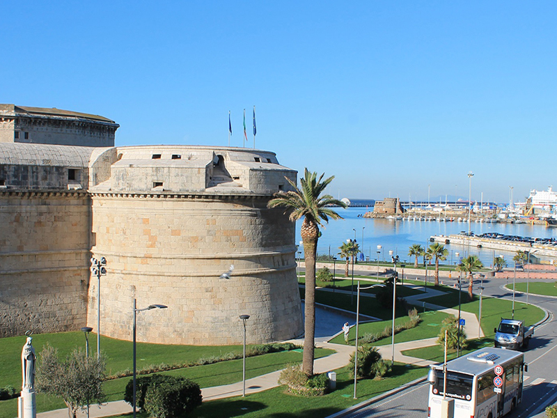 View from Civitavecchia Port. You can reach Rome with our limo transfer service from Civitavecchia to Rome