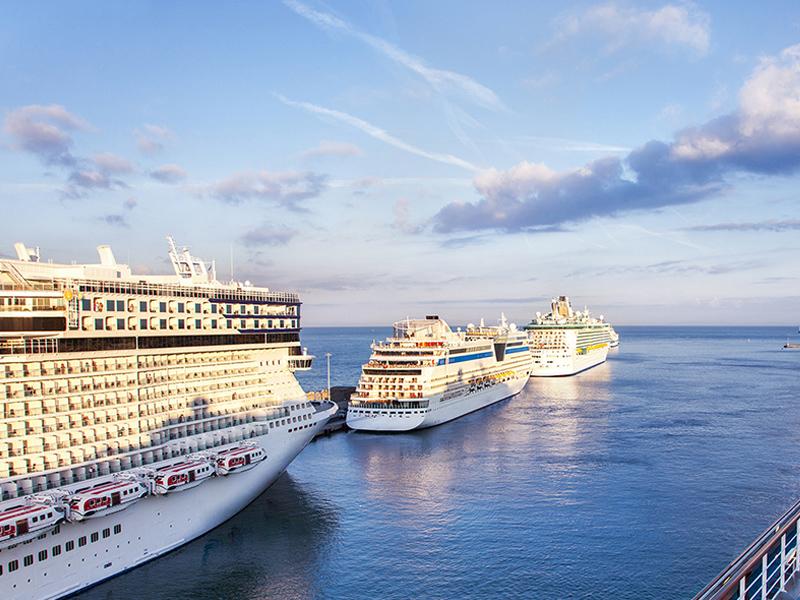 Cruise ships located at Civitavecchia Port - Civitavecchia to Rome city transfer