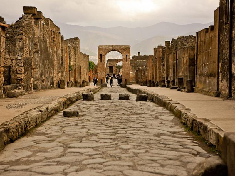 View of Pompeii during our Pompeii tour from Rome