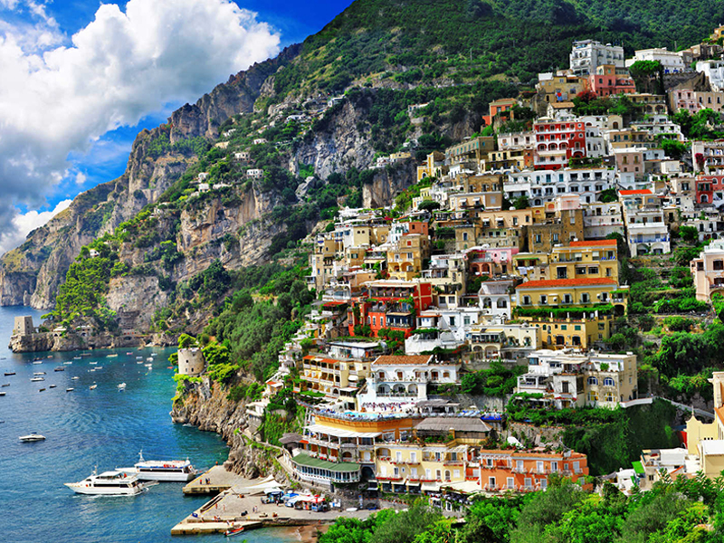 Wonderful view of Positano - Amalfi Coast Tours